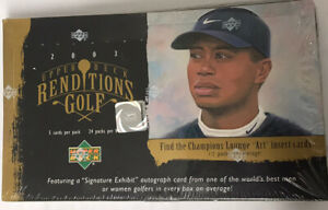 2003 Upper Deck Renditions Golf Hobby Box Factory Sealed