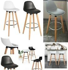 2 x Bar Stools Modern Breakfast Bar Kitchen Padded Barstool Kitchen Dining Chair