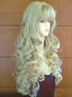 New Long Mix Platinum-Blonde Cosplay Fashion Curly Wig Hair