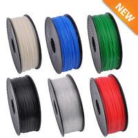 3D Printer Filament 1kg/2.2lb 1.75mm ABS PLA PETG Wood TPU MakerBot RepRap