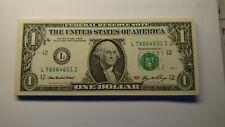 New ListingFr-1933 L 50 - One Dollar Bills Series 2006 New Crisp Paper Money.