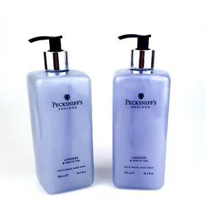 2x 750 ml Pecksniff's Lavender & white tea Moisturising Hand Wash Limited