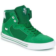 NEW SUPRA VAIDER GREEN WHITE 08044-301 SKATEBOARDING SHOES 9