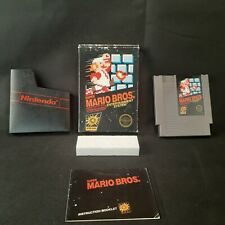 Super Mario Bros. Nintendo NES  No Hang Tab BLACK BOX. With Manual, Sleeve, Game