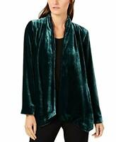 MSRP $398 Eileen Fisher Womens Sweater Small Open Front Cardigan Green Size S/P