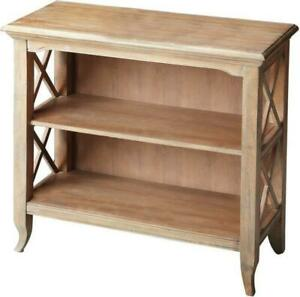 BOOKCASE X-SHAPED SIDE SUPPORTS X DRIFTWOOD DISTRESSED RUBBERWOOD BIRCH 2