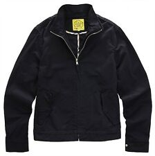 NII Mens Casual Cotton High Neck Zip Up Jacket Jumper Navy Slim Size S NWT