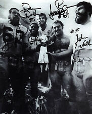 1- 1980 OAKLAND RAIDERS SUPERBOWL OFFENSIVE LINE 8X10 REPRINT AUTO SPORTS PHOTO