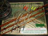 """""""MR CRABTREE"""" SPECIAL EDITION - GOOSE QUILL FLOAT SET RED and YELLOW"""