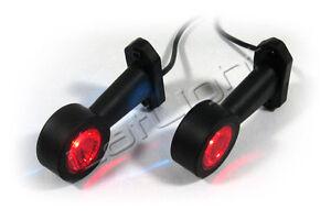2x LED Begrenzungsleuchten Umrissleuchten LKW PKW Anhänger Trailer 12 24 Volt