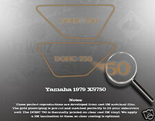 YAMAHA 1979 XS750 SIDE COVER DECAL GRAPHIC SET LIKE NOS