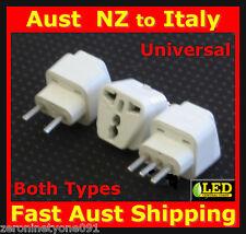 AU NZ Universal to ITALY Travel Plug Adaptor Converter 10/16 Amp Both Types