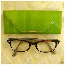 1637d6cf5443 Rainbow Women s Genuine Eel Skin Leather Eyeglasses Case Green
