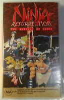 Ninja Resurrection Anime VHS 1998 Revenge of Jubei Classic Siren / Madman Video