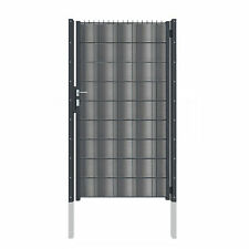 1,83m blickdichtes Doppelstabmattenzaun Tor mit Hart PVC wie ein Blechtor 7016