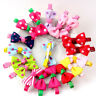 10 PCS Kids Baby Girls Ribbon Bow Hair Pin Hair Clip Mini Bowknot Clips Hairpins