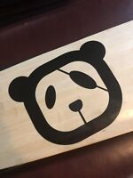 Panda Decal Black Perfect For Notebook Binder Laptop Skateboard Surfboard
