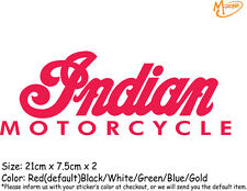 2 Pcs Indian Motorcycle  Reflective Stickers Decals 21cm Best Gift-