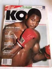 KO Boxing Magazine - April 1982 - Holmes VS Cooney