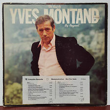 "The Best of Yves Montand By Request 1977 Columbia 12"" 33 RPM LP Promo (VG+)"
