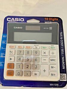 Casio 10 Digits Wide Desktop Calculator Large Display NIP Tax MH-10M SKU 048-015