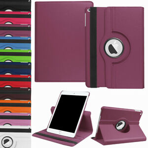 """For iPad 8th 7th Gen 10.2"""" 5th 6th 9.7"""" Leather Smart Case Rotating Stand Cover"""