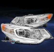 FOR 2009-2014 ACURA TSX [HID MODEL] LED BAR PROJECTOR HEADLIGHTS HEADLAMP CHROME