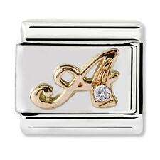 GENUINE Nomination Classic Letter A Rose Gold Steel Charm 430310/01 / £27 RRP