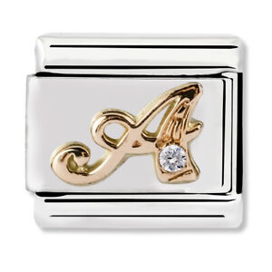 GENUINE Nomination Classic Letter A Rose Gold Steel Charm 430310/01 / £29 RRP