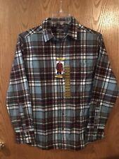 Eddie Bauer Mens Bristol Flannel Button Front Long sleeved Checkered Shirt M