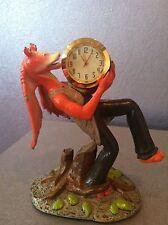 STAR WARS JAR JAR BINKS MINI CLOCK 1999 MINT