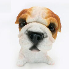 Bobble Head Bulldog Dog Figurine Animal Model Home Car Dashboard Ornament Decor