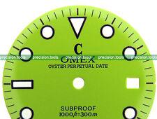 NOS Light Green Grass couleur submariner plongée cadran pour DG2813 mouvement mécanique