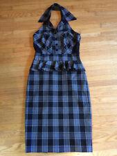 Bebe - Black & white plaid suit dress suitdress mini skirt - Sz 4