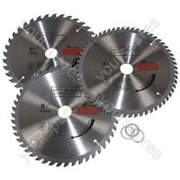 Circular Saw Blades 160mm x 20mm TCT  36 48 60 Tooth Triple Pack Fits Dewalt