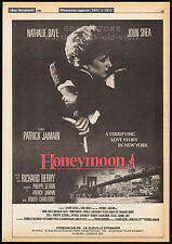 HONEYMOON_til death do us part__Original 1985 Trade AD poster_NATHALIE BAYE_1986