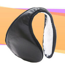 Winter Unisex plush Line Fleece Warm Cover Wrap Earmuffs Ear warmer Ski Black