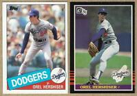 1985 Topps #496, 1985 Donruss #581 OREL HERSHISER Rookie Cards - 2 Card Lot