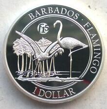 Barbados 2015 Flamingo 1 Dollar 1oz Silver Coin,Proof