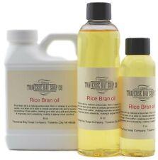 Rice Bran Oil, 100% pure, Soap making supplies, massage oils, bath, body.