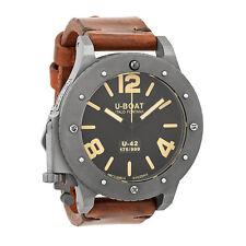 U-Boat Black Titanium Leather Automatic Mens Watch 6471