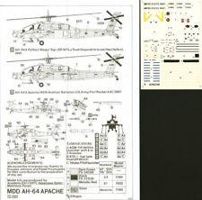 HI Decal 1/72 Hughes AH-64A Apache # 72020