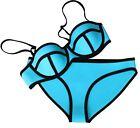 sexy donna push up neoprene bikini costume fascia costume - stock UK
