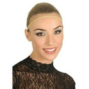 Wig Cap Flesh Fishnet Natural Nude Hair Net Theatrical Costume Adults Accessory