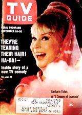 TV Guide 1966 I Dream Of Jeannie Barbara Eden #704 Guy Williams G/VG COA