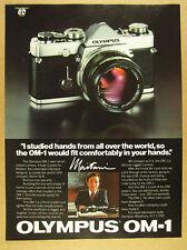 1980 Olympus OM-1 Camera yoshihisa maitani photo vintage print Ad