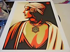 "Obey Giant Shepard Fairey "" PEACE GIRL - WOMAN "" ART PRINT Poster 18 X 24 Inch"