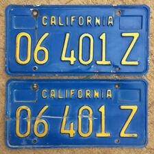 1970 California truck license plate pair 04601 Z YOM DMV clear sticker 1974 Ford
