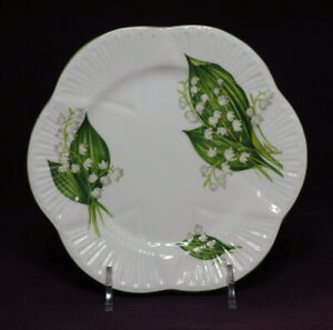Shelley LOTV Dainty Lily of the Valley 6 inch side plate #1 pattern #13822