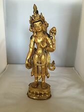 Bronze Feuervergoldet Buddha/Skulptur, China,Tibet, Nepal um 1900